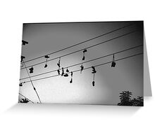 shoes in the sky Greeting Card