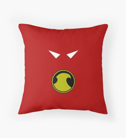 Minimalist Red Robin Throw Pillow