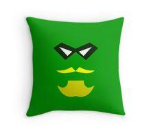 Minimalist Green Arrow Throw Pillow