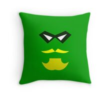 Minimalist Green Arrow Throw Pillow
