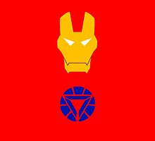 Minimalist Iron Man by Ryan Heller