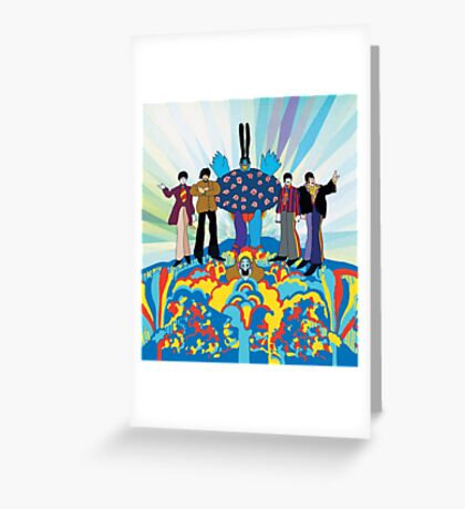 The beatles yellow submarine  Greeting Card