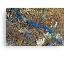 A vein of boulder opal in the host rock. Canvas Print