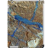 A vein of boulder opal in the host rock. iPad Case/Skin