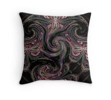 Neon Strands and Angels Throw Pillow