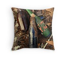 Old, Old Bottles Throw Pillow