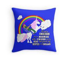 Turkicorn Throw Pillow