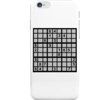 Sudoku iPhone Case/Skin