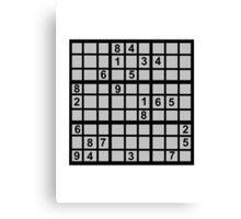 Sudoku Canvas Print