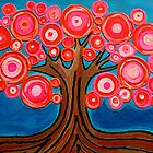 The Lollipop Tree | Funky, whimsical, folksy brightly colored tree by pamelacisneros