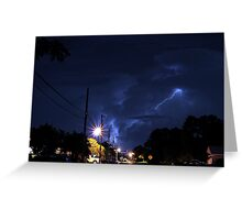 Lightning in the night. Greeting Card