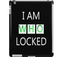I Am Who Locked iPad Case/Skin