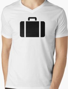 Suitcase symbol Mens V-Neck T-Shirt