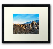 In the hills looking toward Horse Shoe Meadows Framed Print