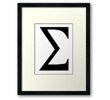 Sigma Framed Print