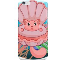 Clam Me-owder (Pink) iPhone Case/Skin