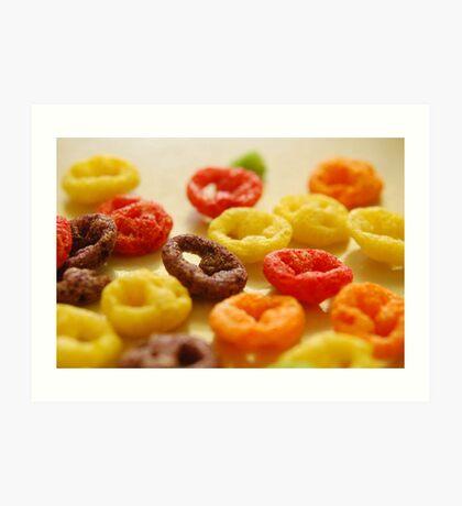 Spilled Cereal Art Print