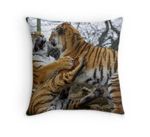 Tiger Tussle Throw Pillow
