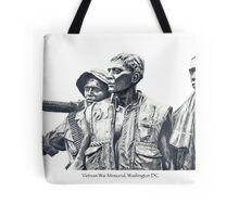 Vietnam War Memorial  - 3 soldiers Tote Bag