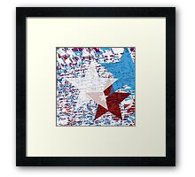 Red, White, and Blue Stars Framed Print
