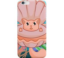 Clam Me-owder (Salmon) iPhone Case/Skin