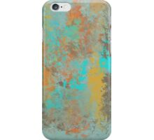 Abstract Design in Gold, Aqua, Brown and Copper iPhone Case/Skin