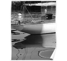 Sailboat Stern View 3 Poster