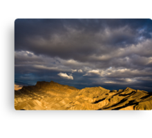 Dramatic Clouds at Sunrise in Death Valley Canvas Print