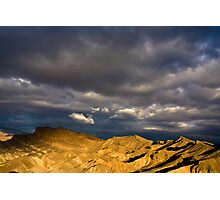 Dramatic Clouds at Sunrise in Death Valley Photographic Print
