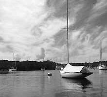 Peaceful Harbor Sailboats by Mary-Anne Ganley