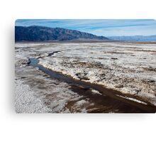 Salt Flats in Death Valley Canvas Print