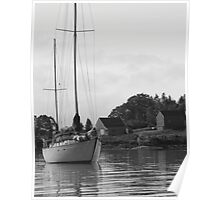 Maple Juice Cove Sailboat Poster