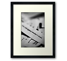 Another's Heart Framed Print