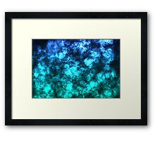 Blue Ocean Bokeh Lights Framed Print