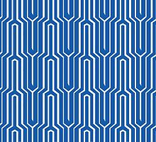Blue abstract pattern by svantevid