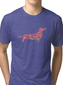 Pyschedelic Sausage Dog Tri-blend T-Shirt