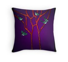 Vein Birds Throw Pillow