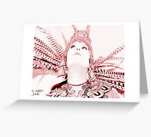 Aztec Worshipper Greeting Card
