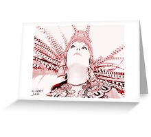 Aztec Worshipper Greeting Card