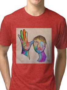 American Sign Language FATHER Tri-blend T-Shirt