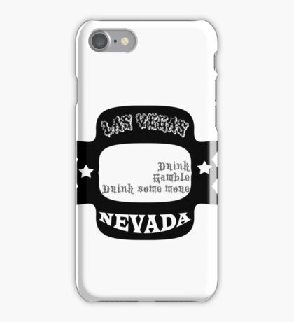 Las Vegas Nevada. Drink Gamble Drink iPhone Case/Skin