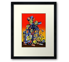 Phone booth Builder Framed Print