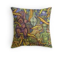 """Interplanetary Space Orgy (The Big Gangbang Theory)"" Throw Pillow"