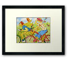 Bicycle Belles Framed Print