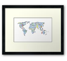 Lilly Pulitzer Map of the World Framed Print