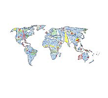 Lilly Pulitzer Map of the World Photographic Print