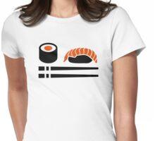 Sushi sashimi sticks Womens Fitted T-Shirt