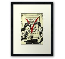 V for Valentine Framed Print