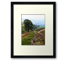 Descent to Ollerbrook ( A collaboration with Lynda Robinson) Framed Print