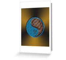 Cancer & Horse Yang Earth Greeting Card